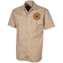 Sunflower Boats by Retro Boater 1574 Dickies Men's Short Sleeve Workshirt