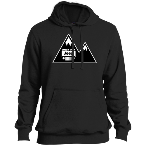 Classic Only in a Jeep with Mountains Pullover Hoodie