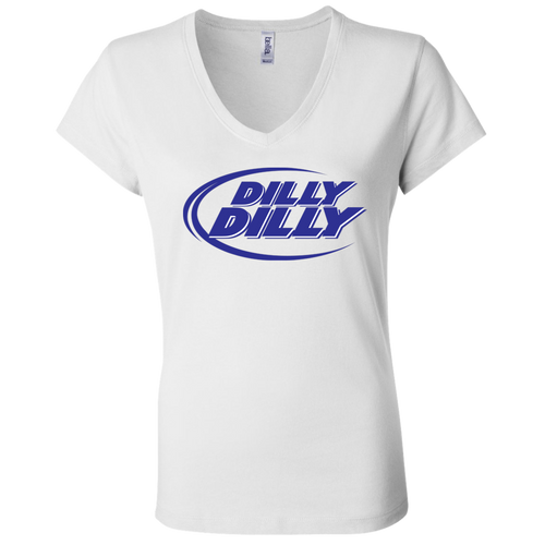 Bud Light Dilly Dilly B6005 Ladies' Jersey V-Neck T-Shirt