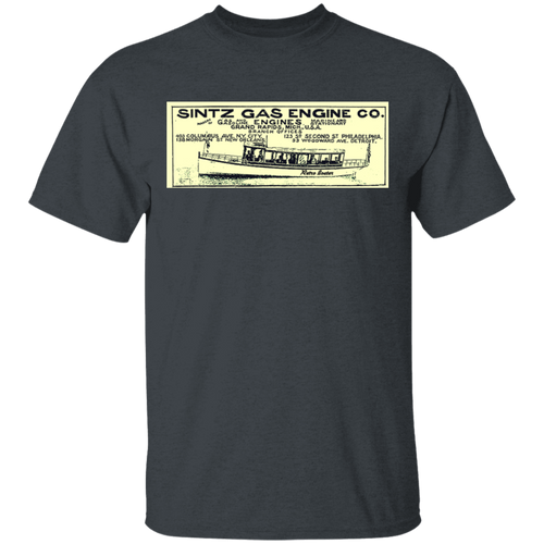 Sintz Gas Engine Company G500 5.3 oz. T-Shirt by Retro Boater