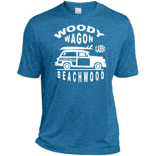 Speedtiques Woody Wagon Sport-Tek Heather Dri-Fit Moisture-Wicking T-Shirt