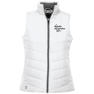 Woodies Restorations Logo 229314 Holloway Ladies' Quilted Vest