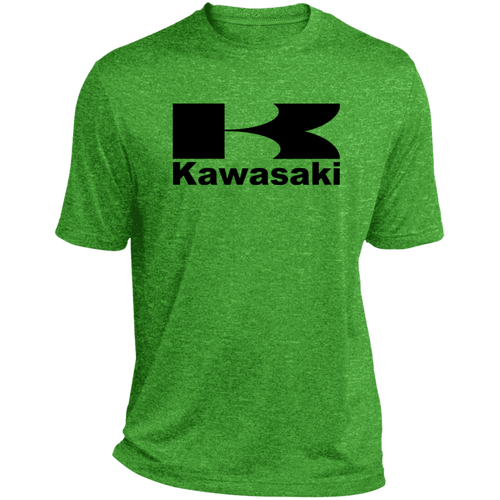 Vintage Kawasaki Motorcycle Heather Dri-Fit Moisture-Wicking T-Shirt