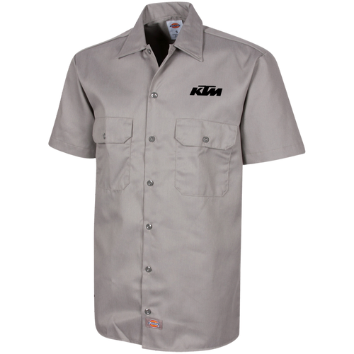 Classic Style in Black KTM Motorcycle Men's Short Sleeve Workshirt