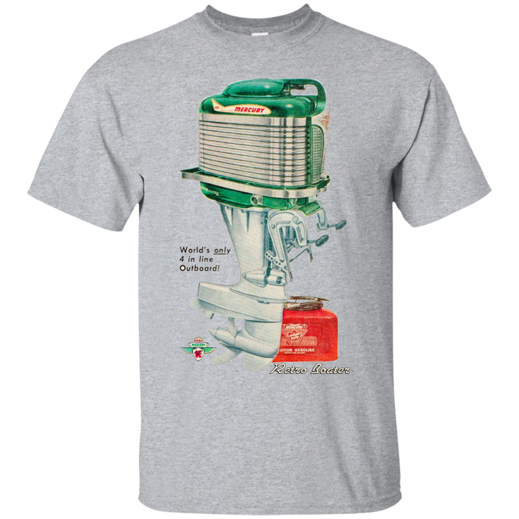 Mercury Outboard Engines by Retro Boater G200 Gildan Ultra Cotton T-Shirt