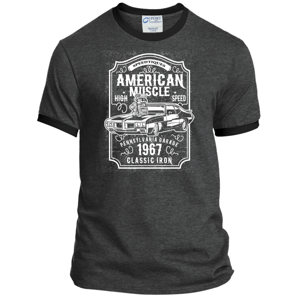 American Muscle PC54R Port & Co. Ringer Tee