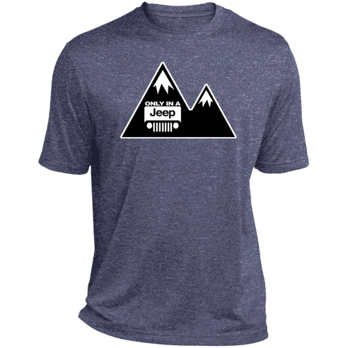 Classic Only in a Jeep with Mountains Heather Dri-Fit Moisture-Wicking T-Shirt