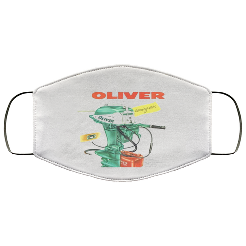 Oliver Outboard Motors FMA Face Mask by Retro Boater