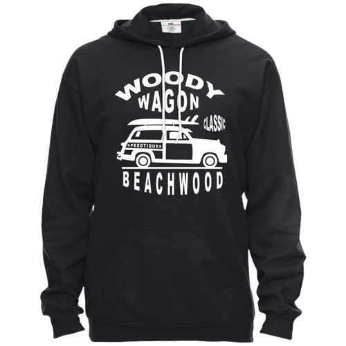 Speedtiques Woody Wagon Anvil Pullover Hooded Fleece