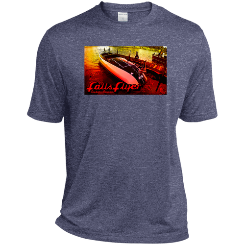 Vintage Larson Falls Flyer by Classic Boater Sport-Tek Heather Dri-Fit Moisture-Wicking T-Shirt