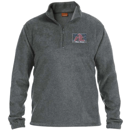 Retro Boater Logo with Letters M980 Harriton 1/4 Zip Fleece Pullover