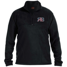 Retro Boater Logo M980 Harriton 1/4 Zip Fleece Pullover