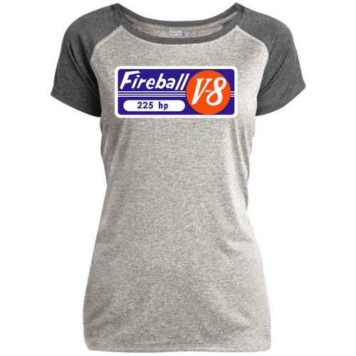 Fireball Gray Marine Engine LST362 Sport-Tek Ladies Heather on Heather Performance T-Shirt
