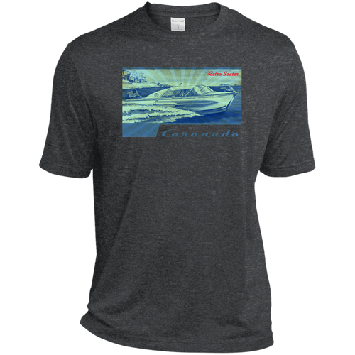 Vintage Century Coronado by Retro Boater Sport-Tek Heather Dri-Fit Moisture-Wicking T-Shirt