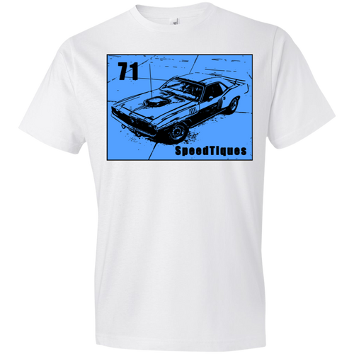 1971 Plymouth Cuda 980 Anvil Ultra Cotton T-Shirt by SpeedTiques