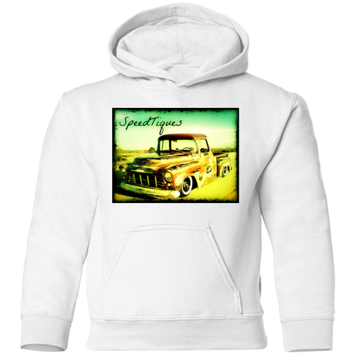 1956 Chevy Pickup Shop Truck by SpeedTiques  Precious Cargo Toddler Pullover Hoodie