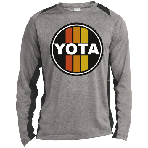 Vintage look Yota Toyota Circle Sign Style Long Sleeve Heather Colorblock Poly T-Shirt