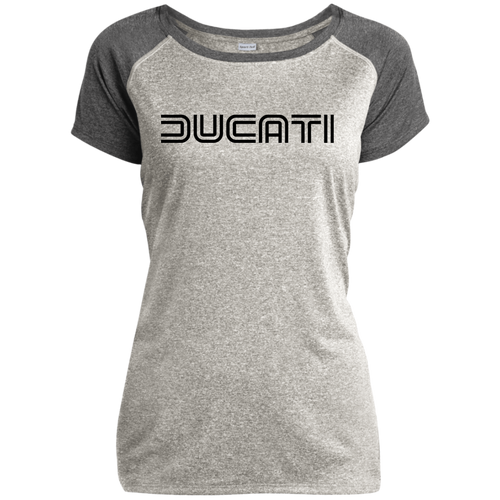 Vintage Ducati LST362 Ladies Heather on Heather Performance T-Shirt