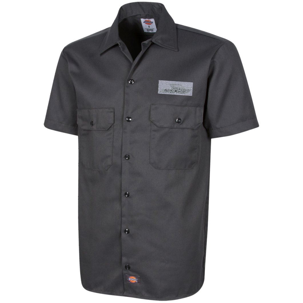 Cruiser Art by Retro Boater 1574 Dickies Men's Short Sleeve Workshirt