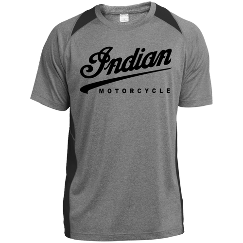 Vintage Indian Motorcycle ST361 Heather Colorblock Poly T-Shirt