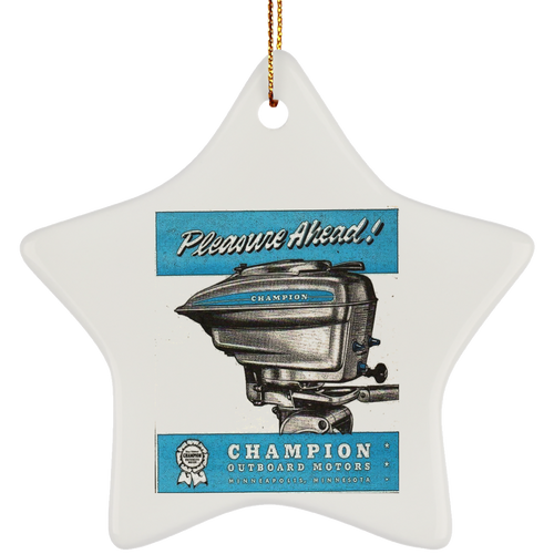 Champion Engine Co. SUBORNS Ceramic Star Ornament