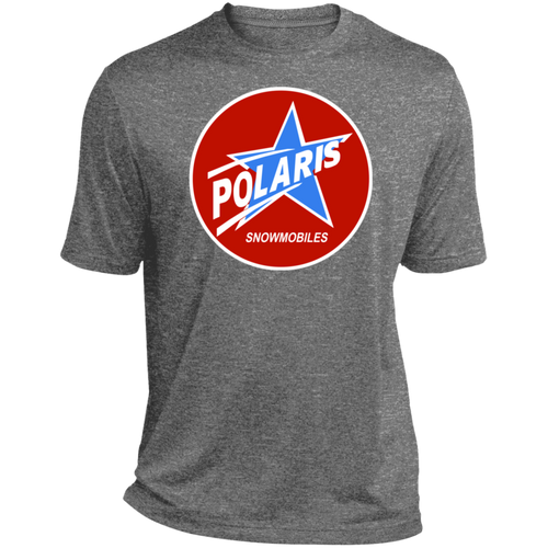 Vintage Polaris Snowmobile with Star Heather Dri-Fit Moisture-Wicking T-Shirt