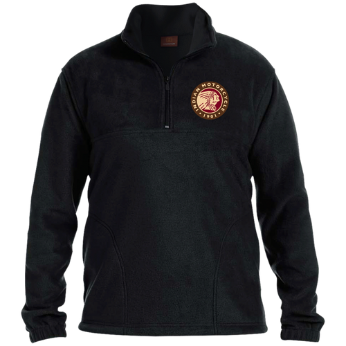 1901 Vintage Indian Motorcycle 1/4 Zip Fleece Pullover