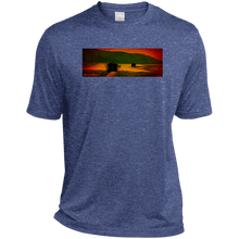 Sunset Lake Cruise by Classic Boater  Sport-Tek Heather Dri-Fit Moisture-Wicking T-Shirt