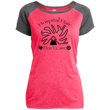 Hospital Hair Don't Care Sport-Tek Ladies Heather on Heather Performance T-Shirt