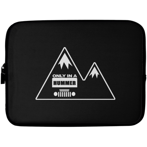 Classic Only in a Hummer with Mountains Laptop Sleeve - 10 inch