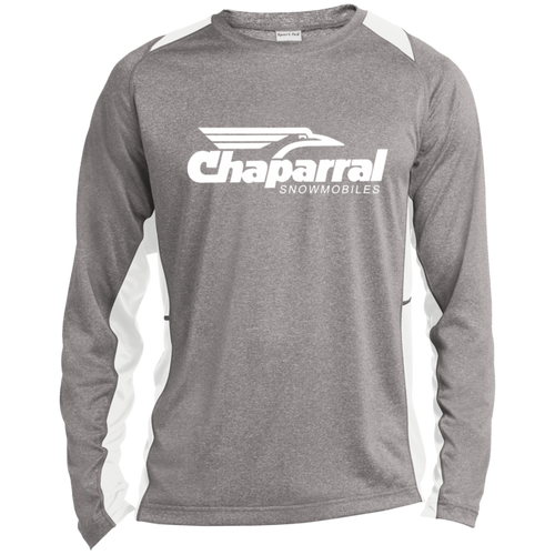 Vintage Chaparral Snowmobiles Long Sleeve Heather Colorblock Poly T-Shirt