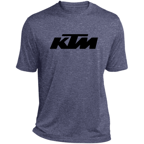 Classic Style in Black KTM Motorcycle Heather Dri-Fit Moisture-Wicking T-Shirt