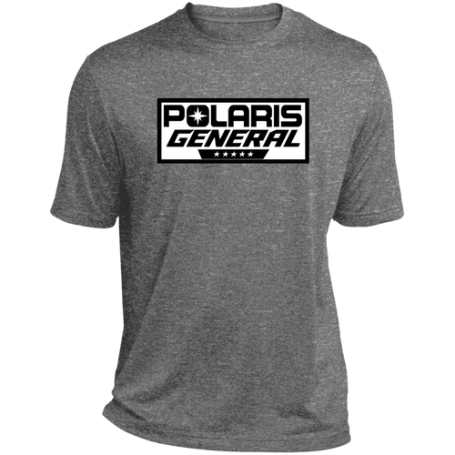 Classic Polaris General ATV UTV Heather Dri-Fit Moisture-Wicking T-Shirt