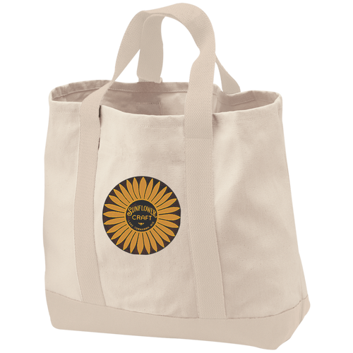 Sunflower Boats by Retro Boater B400 Port & Co. 2-Tone Shopping Tote