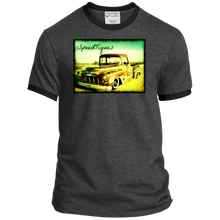 1956 Chevy Pickup Shop Truck by SpeedTiques  Port & Co. Ringer Tee