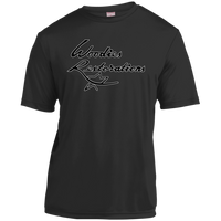 Woodies Restorations Logo in white outline YST350 Sport-Tek Youth Moisture-Wicking T-Shirt