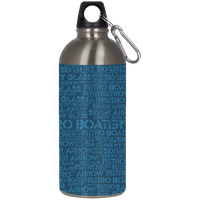 Retro Boater Word Art 23624 Stainless Steel Silver Water Bottle