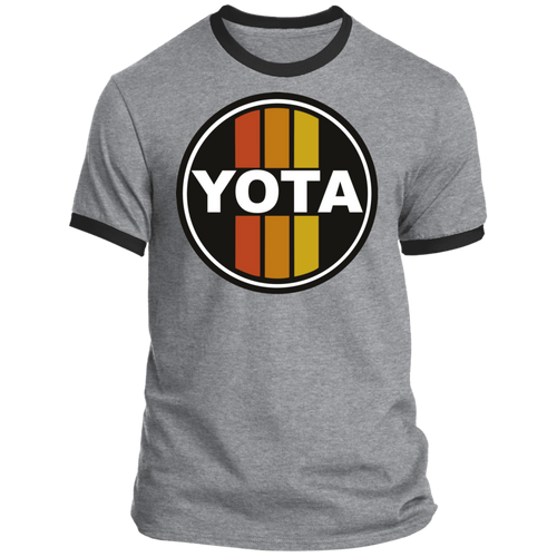 Vintage look Yota Toyota Circle Sign Style Ringer Tee