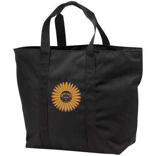 Sunflower Boats by Retro Boats B5000 Port & Co. All Purpose Tote Bag