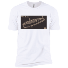 Vintage Chris Craft Dual Cockpit by Retro Boater Next Level Premium Short Sleeve T-Shirt