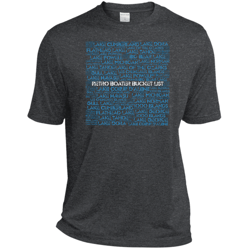 Retro Boater Bucket List ST360 Sport-Tek Heather Dri-Fit Moisture-Wicking T-Shirt