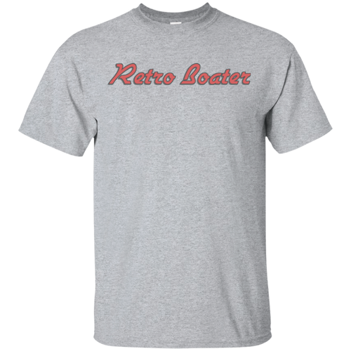Retro Boater in Red G200 Gildan Ultra Cotton T-Shirt