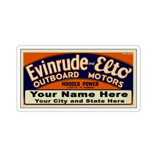 Custom Vintage Style Evinrude and Elto Outboard Boat Motors Kiss-Cut Stickers by Retro Boater
