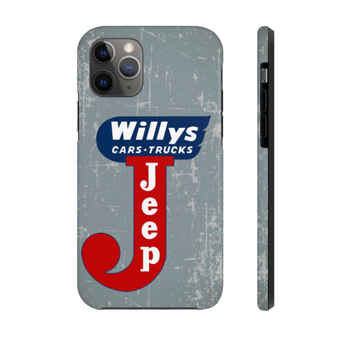Jeep Willys Case Mate Tough Phone Cases by SpeedTiques
