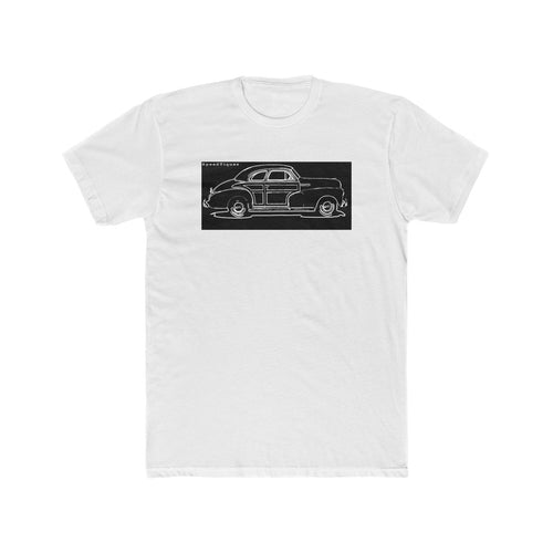 1948 Chevy Coupe Woody Men's Cotton Crew Tee by SpeedTiques
