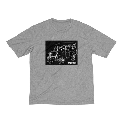 1955 Willys Wagon Men's Heather Dri-Fit Tee by SpeedTiques