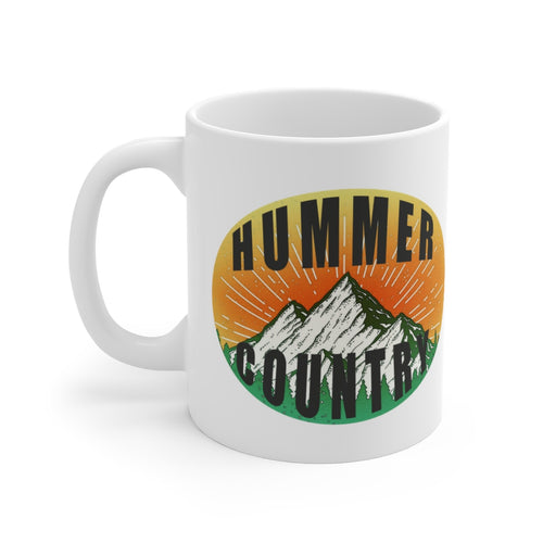 Classic Hummer Country White Ceramic Mug by SpeedTiques