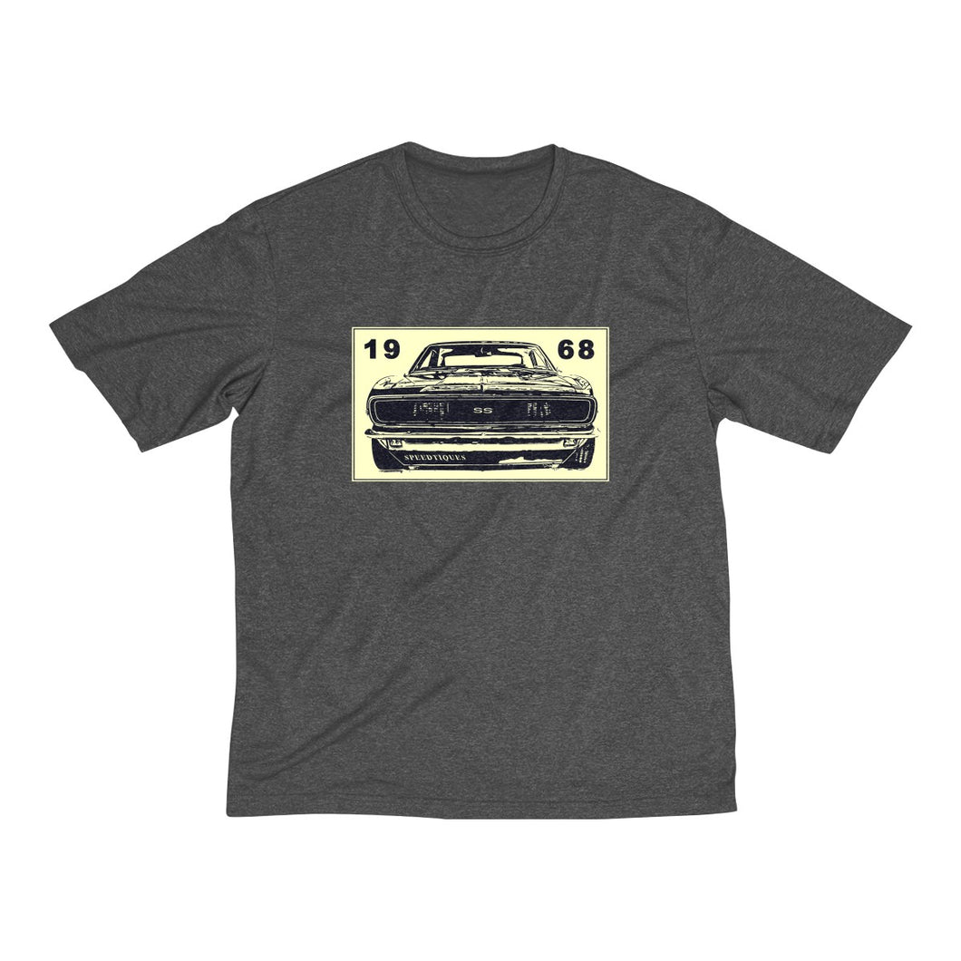 1968 Chevy Camaro Men's Heather Dri-Fit Tee by SpeedTiques