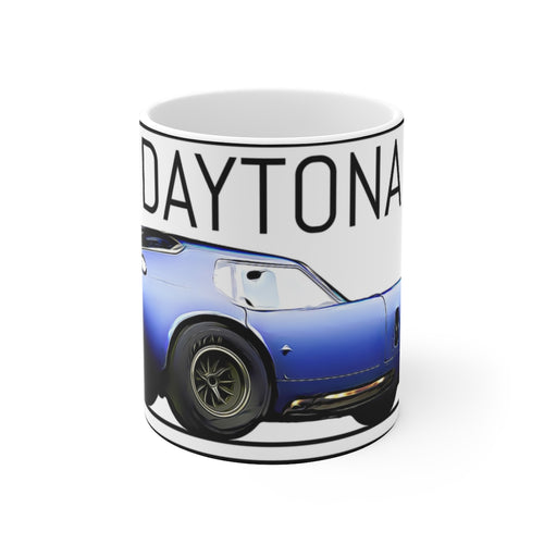 Carrol Shelby Daytona White Ceramic Mug by SpeedTiques