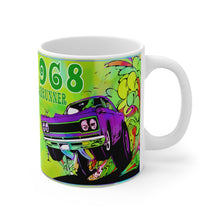 1968 Plymouth Roadrunner White Ceramic Mug by SpeedTiques